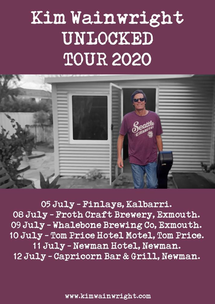 Kim Wainwright - Unlocked Tour 2020 (POSTER)